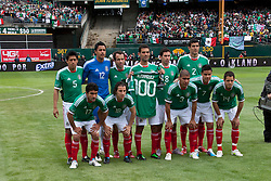 March 26, 2011; Oakland, CA, USA;  Mexico poses for a team photo before the game against Paraguay at Oakland-Alameda County Coliseum. Mexico defeated Paraguay 3-1.