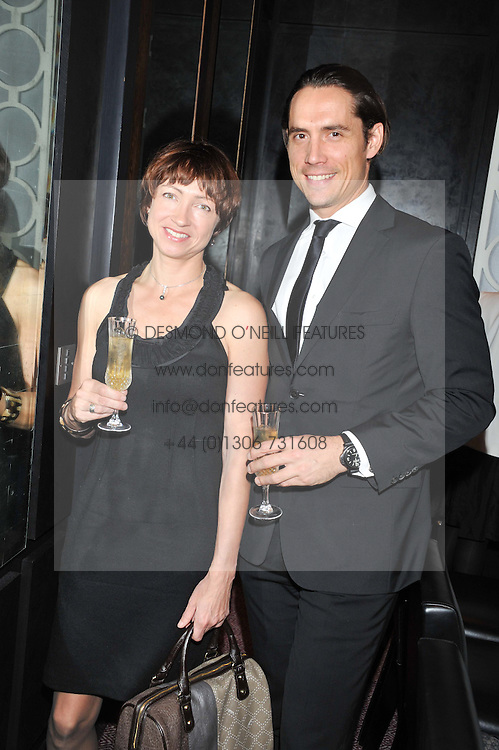 LAURA IVILL and WYNTON FAURE at a dinner hosted by Marcus Wareing and Johnnie Walker Blue Label in The Private Dining Room, Marcus Wareing at The Berkeley, Wilton Place, London on 7th November 2012.
