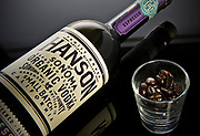 Hanson of Sonoma's Espresso flavored vodka. Hanson creates various organic vodkas in multiple flavors.<br /> ///ADDITIONAL INFORMATION: food.FlavoredVodkas.0924 &ndash; 9/16/15 &ndash; NICK AGRO, ORANGE COUNTY REGISTER-BACKGROUND:<br /> <br /> Posted at 2pm to setup studio. Should setup for big soft lighting but alos switch to harder backlighting too.<br /> <br /> See Kyle in the newsroom for his thoughts on Weds. Begin shoot at 3pm. Work with Kyle on a design concept. <br /> <br /> Shoot fruit with vodka. This is probably best with big, softbox lighting but your call.<br /> <br /> Paul Hodgins will also be there and bringing some (hopefully) cool looking bottles. I might recommend shooting this with some softish front lighting but strong backlight to bring out the (hopefully) colors of the fruit drinks.<br /> <br /> Flavored vodkas: Bo has spoken to Greenbar LA, St. George and Ketel One. Story by Paul Hodgins and Bo McMillan.