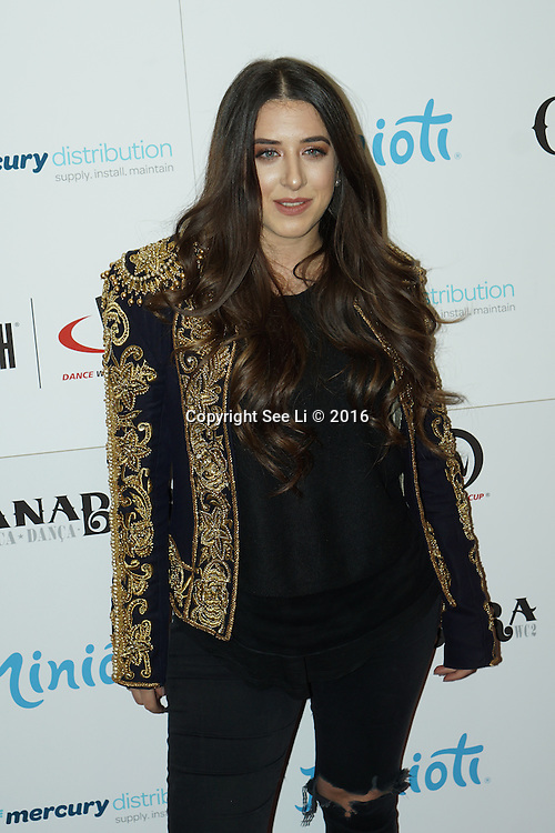 London,England,UK : 28th April 2016 : Ella Jade attend the Kimberly Wyatt launches the 2016 annual BLOCH Dance World Cup at BLOCH, 35 Drury Lane, Covent Garden, London. Photo by See Li