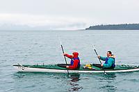 Kayakers (Glacier Bay Sea Kayaks), Gustavus, Southeast Alaska USA