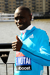 Emmanuele Mutai attends the celebrity runners London Marathon photocall at Tower Bridge, London, UK.<br /> Wednesday, 9th April 2014. Picture by Chris Joseph / i-Images