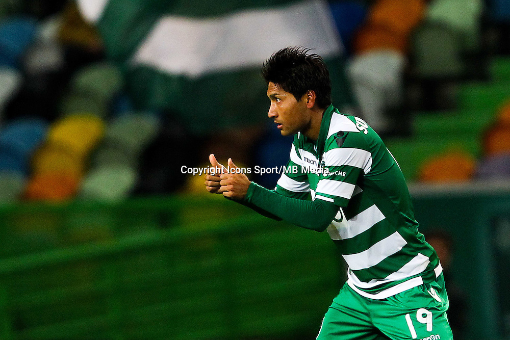 Joie Junya Tanaka - 14.01.2015 - Sporting / Boavista -Coupe de la ligue du Portugal-<br /> Photo : Carlos Rodrigues / Icon Sport