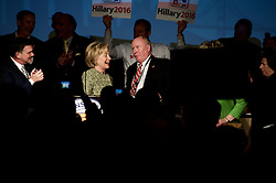With three weeks to the Pennsylvania Primaries Former Secretary of State Hillary Clinton speaks at the April 6, 2016 Pennsylvania AFL-CIO Union Convention at Liberty ballroom of Sheraton Downtown Hotel in Center City Philadelphia, PA.