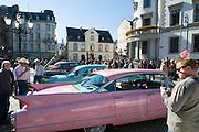 jährliche Oldtimer Rallye, Oldtimer am Schlossplatz, Wiesbaden, Hessen, Deutschland |  annual oldtimer rallye, Wiesbaden, Hesse, Germany