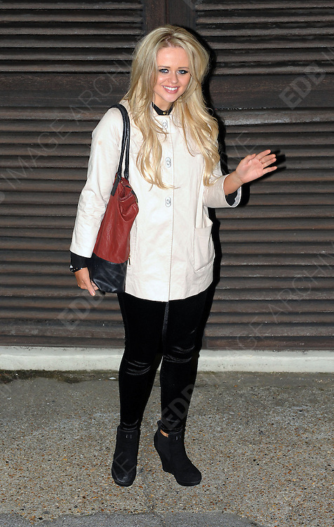 14.OCTOBER.2012. LONDON<br /> <br /> EMILY ATACK LEAVING THE X-FACTOR STUDIOS AFTER THE RESLUTS SHOW.<br /> <br /> BYLINE: EDBIMAGEARCHIVE.CO.UK<br /> <br /> *THIS IMAGE IS STRICTLY FOR UK NEWSPAPERS AND MAGAZINES ONLY*<br /> *FOR WORLD WIDE SALES AND WEB USE PLEASE CONTACT EDBIMAGEARCHIVE - 0208 954 5968*