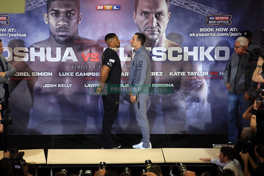 0c1bb146d92 27 April 2017 - Boxing - Anthony Joshua v Wladimir Klitschko Press  conference - The fighters.