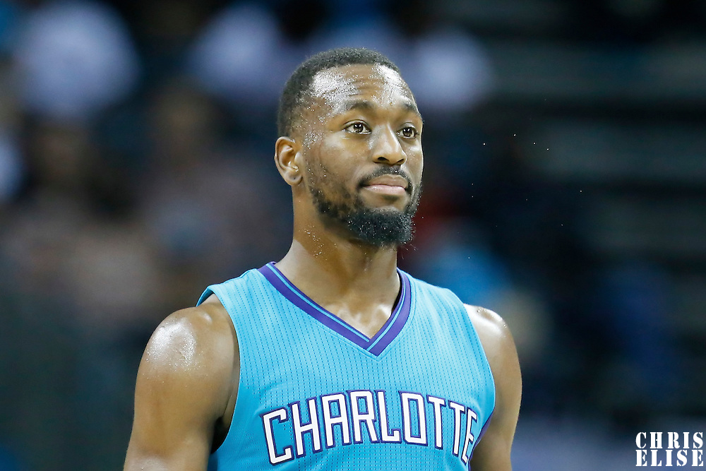 01 November 2015: Charlotte Hornets guard Kemba Walker (15) is seen during the Atlanta Hawks 94-92 victory over the Charlotte Hornets, at the Time Warner Cable Arena, in Charlotte, North Carolina, USA.