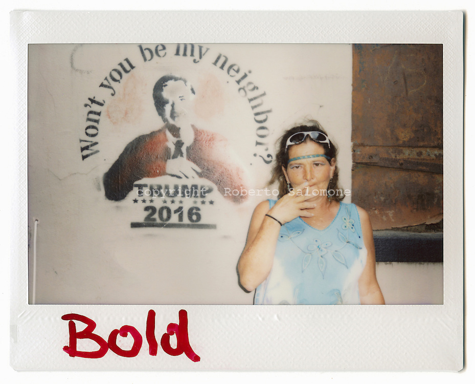 Savannah, Georgia - Gale, 53. &quot;donald Trump will change America, he will get us out of the hole. He is such a honest person&quot; says Gale.<br /> Ph. Roberto Salomone