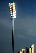 A floodlight at the Qatar Sports Club