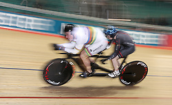 Matt Rotherham (left) and Neil Fachie in action during the Paracycling BVI Time Trial, during day one of the HSBC UK National Track Championships at The National Cycling Centre, Manchester.