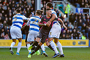 Leeds United defender Ben White (5), on loan from Brighton & Hove Albion,  during the EFL Sky Bet Championship match between Queens Park Rangers and Leeds United at the Kiyan Prince Foundation Stadium, London, England on 18 January 2020.