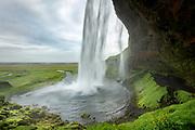 Seljalandsfoss waterfall in South Iceland
