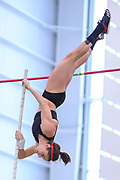 Megan Zimlich competes in the pole vault  during the USA Indoor Track and Field Championships in Staten Island, NY, Sunday, Feb 24, 2019. (Rich Graessle/Image of Sport)