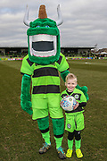 Mascot during the EFL Sky Bet League 2 match between Forest Green Rovers and Yeovil Town at the New Lawn, Forest Green, United Kingdom on 16 February 2019.