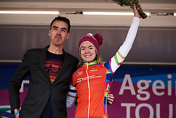 Anna van der Breggen (NED) wins the combativity award at Healthy Ageing Tour 2019 - Stage 5, a 124.3 km road race in Midwolda, Netherlands on April 14, 2019. Photo by Sean Robinson/velofocus.com