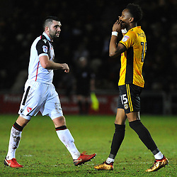 Shawn McCoulsky of Newport County reacts after missing a chance to score - Mandatory by-line: Nizaam Jones/JMP- 23/01/2018 - FOOTBALL - Rodney Parade - Newport, Wales- Newport County v Morecambe - Sky Bet League Two