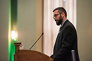 Tim Epley speakes at the Outstanding Administrators Award Ceremony. Photo by Ben Siegel