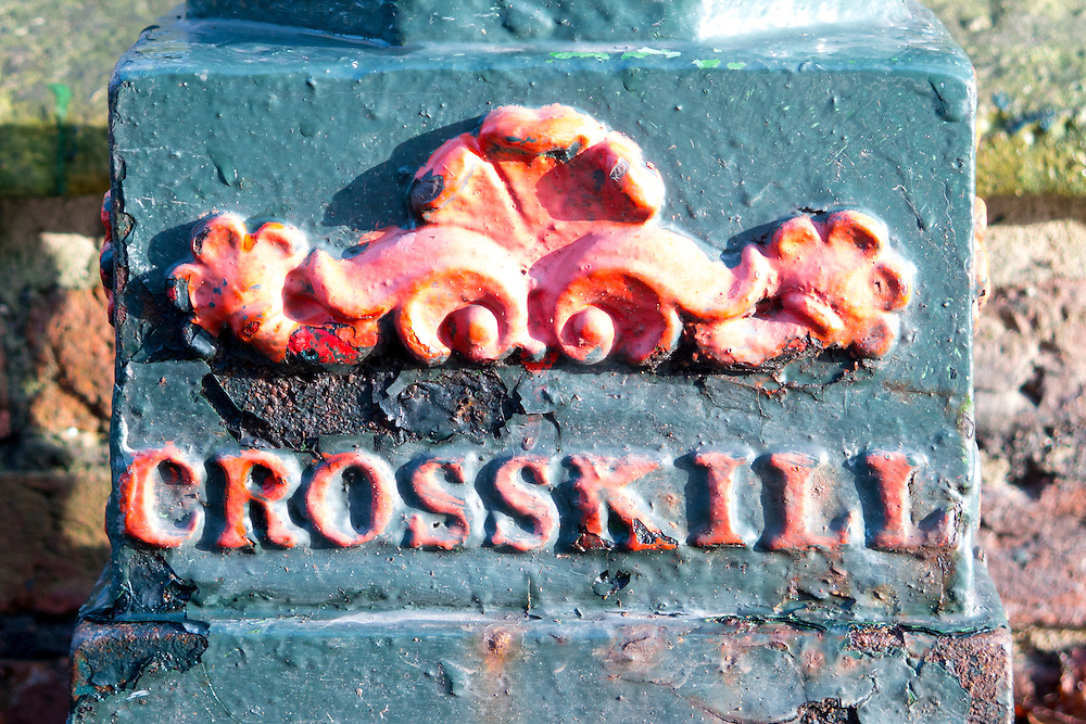 Base of a former gas lamp in Beverley, Yorkshire, UK by Crosskill and Co from the first half of the 19th Century.