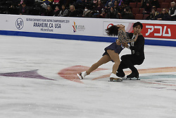 February 8, 2019 - Anaheim, California, U.S - Wenjing Sui and Cong Han from China competes in the Pairs Short Program during the ISU - Four Continents Figure Skating Championships, at the Honda Center in Anaheim California, February 5-10, 2019 (Credit Image: © Dave Safley/ZUMA Wire)