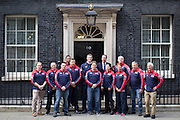 UNITED KINGDOM, London: 27 April 2016 Members of Team Great Britain of the Invictus Games meets Prime Minister David Cameron outside No.10 Downing Street this afternoon. Rick Findler / Story Picture Agency