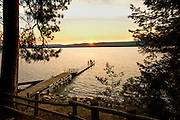 Payette Lake at sunset, from Ponderosa State Park, McCall,  Idaho