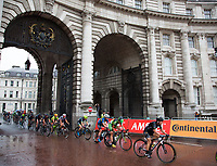 A view of the riders as they pass through Admiralty Arch in the Prudential RideLondon Classique 29/07/2017<br /> <br /> Photo: Paul Gregory/Silverhub for Prudential RideLondon<br /> <br /> Prudential RideLondon is the world&rsquo;s greatest festival of cycling, involving 100,000+ cyclists &ndash; from Olympic champions to a free family fun ride - riding in events over closed roads in London and Surrey over the weekend of 28th to 30th July 2017. <br /> <br /> See www.PrudentialRideLondon.co.uk for more.<br /> <br /> For further information: media@londonmarathonevents.co.uk