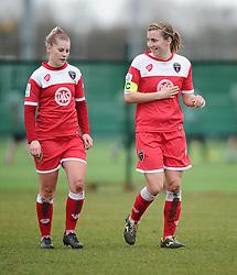 Bristol Academy's Grace McCatty and Bristol Academy's Nikki Watts  - Photo mandatory by-line: Joe Meredith/JMP - Mobile: 07966 386802 - 01/03/2015 - SPORT - Football - Bristol - SGS Wise Campus - Bristol Academy Womens FC v Aston Villa Ladies - Women's Super League