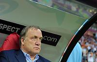 Fotball<br /> EM 2012<br /> 16.06.2012<br /> Hellas v Russland<br /> Foto: Witters/Digitalsport<br /> NORWAY ONLY<br /> <br /> Trainer Dick Advocaat (Russland)<br /> Fussball EURO 2012, Vorrunde, Gruppe A, Griechenland - Russland 1:0