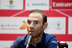 February 23, 2019 - Abu Dhabi - Foto LaPresse - Fabio Ferrari.23 Febbraio 2019 Abu Dhabi (Emirati Arabi Uniti).Sport Ciclismo.UAE Tour 2019 - Conferenza Tor Riders.Nella foto:Alejandro Valverde..Photo LaPresse - Fabio Ferrari.February 23, 2019 Abu Dhabi (United Arab Emirates) .Sport Cycling.UAE Tour 2018 - Top rider press conference.In the pic:  Alejandro Valverde (Credit Image: © Fabio Ferrari/Lapresse via ZUMA Press)