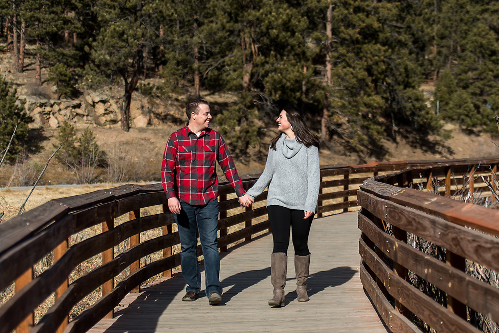 EVERGREEN, CO - JANUARY 25: Engagement of Rachel Ritter and Jeff Oline at Elk Meadow Park on January 25, 2020, in Evergreen, Colorado. (Photo by Daniel Petty/A&D Creative)