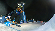 Oslo, Norway. 26th February, 2016<br /> <br /> The 2016 Winter X Games arrived in Oslo this year, bringing athletes from all around the world to the Norwegian city. The event focuses on winter sports, such as skiing and snowboarding.<br /> <br /> Pictured competing in the Men's SuperPipe final at Wylland is Danny Davis, who finished in sixth place.<br /> <br /> Matthew James / Alamy Live News