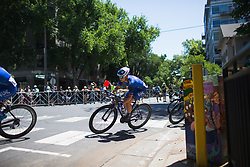 Lauren Hall (USA) of UnitedHealthcare Cycling Team controls the race on Stage 3 of the Amgen Tour of California - a 70 km road race, starting and finishing in Sacramento on May 19, 2018, in California, United States. (Photo by Balint Hamvas/Velofocus.com)