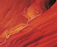 Edges of eroding sandstone layers