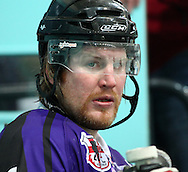 16 Jan 2010: Guildford, England. Andre Payette of Manchester Phoenix looks on during the English Premier League match between Guildford Flames  Manchester Phoenix at Guildford (photo by Andrew Tobin/Slik Images)