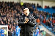 Gillingham head coach Adrian Pennock during the EFL Sky Bet League 1 match between Gillingham and Shrewsbury Town at the MEMS Priestfield Stadium, Gillingham, England on 28 January 2017. Photo by Andy Walter.