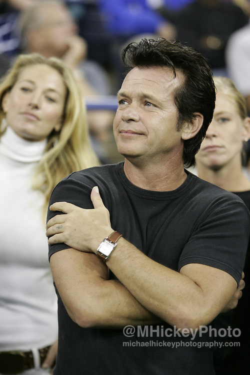 Musician John Mellencamp seen on the sidelines of an Indianapolis Colts game in Indianapolis, Indiana. Photo by Michael Hickey
