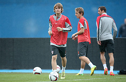 06.09.2014, Trainingsground, Zagreb, CRO, FS Vorbereitung, Trainingslager, Kroatisches Nationalteam, im Bild Alen Halilovic // during a training session of the national footballteam of Croatia in preparation for the upcoming EURO 2016 qualifying match against Malta on 09. Spetember 2014 in Zagreb, at the Trainingsground in Zagreb, Croatia on 2014/09/06. EXPA Pictures © 2014, PhotoCredit: EXPA/ Pixsell/ Sanjin Strukic<br /> <br /> *****ATTENTION - for AUT, SLO, SUI, SWE, ITA, FRA only*****