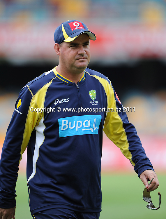 Australian Cricket Coach Mickey Arthur ahead of the first cricket test in Brisbane tomorrow. Wednesday 30 November 2011. Photo: Andrew Cornaga/Photosport.co.nz
