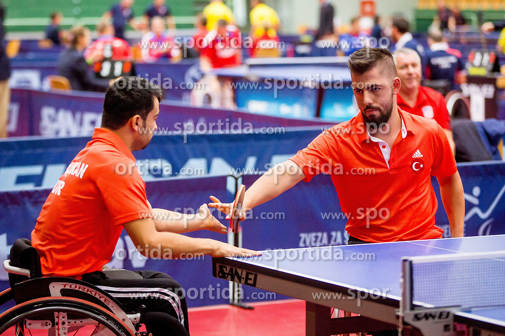 TURKEY (OZTURK Ali, VURAL Suleyman and CALISKAN Hamza) during day 4 of 15th EPINT tournament - European Table Tennis Championships for the Disabled 2017, at Arena Tri Lilije, Lasko, Slovenia, on October 1, 2017. Photo by Ziga Zupan / Sportida