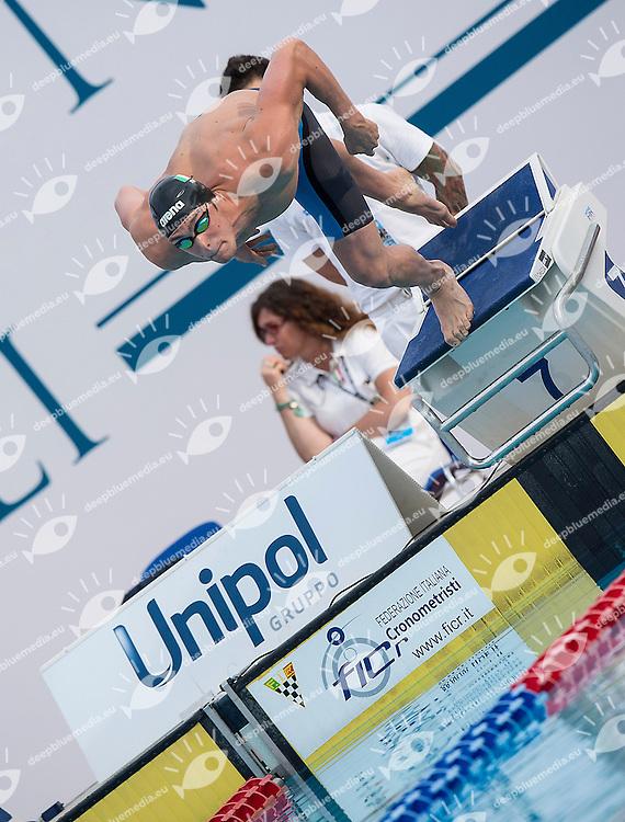 Matteo Rivolta Italy ITA<br /> 100 butterfly men<br /> 51 Trofeo Settecolli Clear di nuoto - swimming<br /> Stadio del Nuoto Roma  Italy 13 - 15 June 2014<br /> Day 01 finali finals<br /> Photo Giorgio Scala/Deepbluemedia/Insidefoto