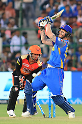April 29, 2018 - Jaipur, Rajasthan, India - Rajasthan Royals batsman Ben Stokes bowled during the IPL T20 match against Sunrisers  Hyderabad at Sawai Mansingh Stadium in Jaipur on 29th April,2018. (Credit Image: © Vishal Bhatnagar/NurPhoto via ZUMA Press)