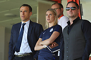 Phil Neville England Womens Team Mananger watches the game during the UEFA European Under 17 Championship 2018 match between England and Italy at the Banks's Stadium, Walsall, England on 7 May 2018. Picture by Mick Haynes.