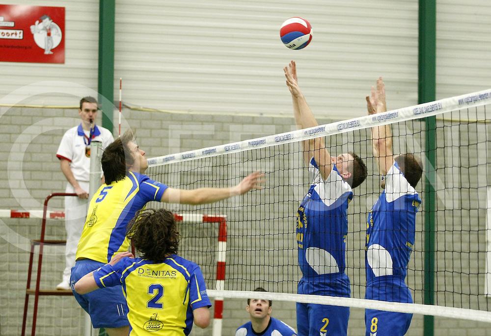 110129 Slagharen ned..Volleybal, mannen, Side Out-Donitas..FFU Press Agency©2010Wilco van Driessen