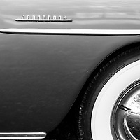 1951 Plymouth Cranbrook front fender black and white