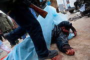 alleged mercernaries that were killed by rebels in Benghazi, libya `march 19,2011. heidi levine/sipa press