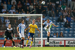 Conor Coady of Huddersfield clears the ball - Photo mandatory by-line: Rogan Thomson/JMP - 07966 386802 - 16/09/2014 - SPORT - FOOTBALL - Huddersfield, England - The John Smith's Stadium - Huddersfield Town v Wigan Athletic - Sky Bet Championship.