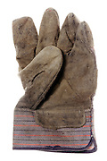 used leather workers and gardening glove