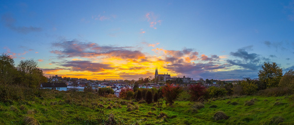 Another one of my Armagh sunsets taken from Infinity Hill in Armagh Observatory Astropark overlooking the city of Armagh from the end of October 2014.<br />