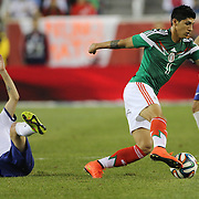 Alan Pulido, (right), Mexico in action during the Portugal V Mexico International Friendly match in preparation for the 2014 FIFA World Cup in Brazil. Gillette Stadium, Boston (Foxborough), Massachusetts, USA. 6th June 2014. Photo Tim Clayton